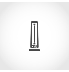 Carbon heater icon vector