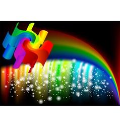 Abstract rainbow vector