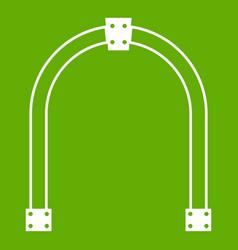 arch icon green vector image