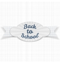Back to school sale greeting label with text vector