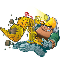 Backhoe driver vector