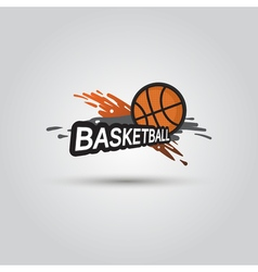 Ball symbol BasketBall Logo Badge Sport emblem vector image vector image