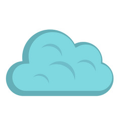 Big cloud icon isolated vector