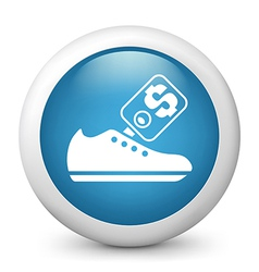 buying shoes glossy icon vector image vector image