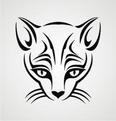 Cat tattoo design vector