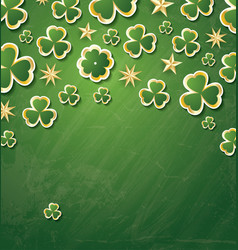 clover pattern for st patricks day with copy vector image vector image