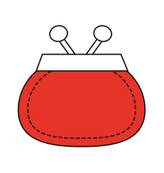 Coin purse icon image vector