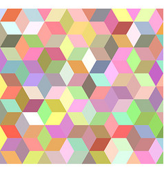 Colorful 3d cube mosaic background design vector