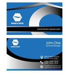 Creative and elegant business card design vector image vector image