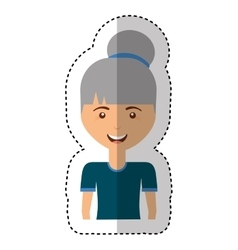 Cute old woman character vector