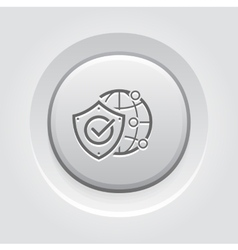 Global protection icon vector