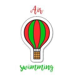hot air ballon fashion patch element vector image