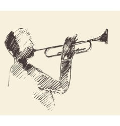 Jazz poster trumpet music acoustic consept vector image