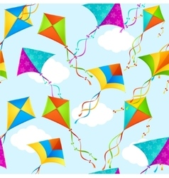 Kite Background Pattern vector image