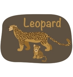 Leopard whith child vector image vector image