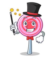 magician cute lollipop character cartoon vector image
