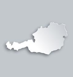 Map of Austria vector image vector image