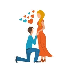 Meeting love couple valentine day postcard vector