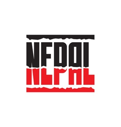 Nepal help earthquake - logo vector image