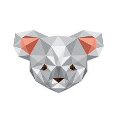 Origami koala bear vector