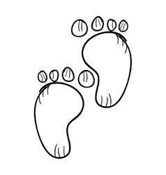 Pair of baby footprints vector