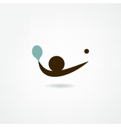 Ping-pong icon vector