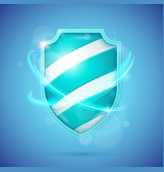 realistic shield a symbol of protection and vector image vector image