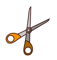 Scissor cut tool vector