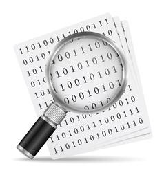 Search file icon vector image