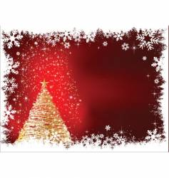 sparkle Christmas tree vector image vector image