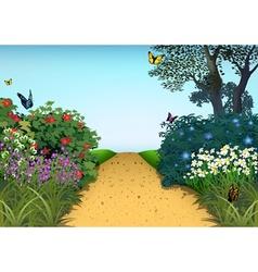 Summer Garden vector image vector image