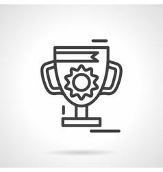 Trophy cup black line icon vector image vector image