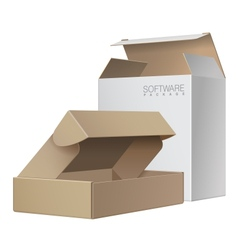 Two Package Box Opened For Software electronic vector image vector image