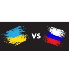 Ukraine and russia vector