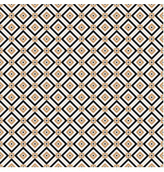 vintage cross lines gold pattern or vector image vector image