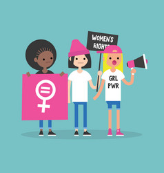 Womens right conceptual feminist demonstration a vector