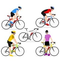 Cyclists on bicycles vector image