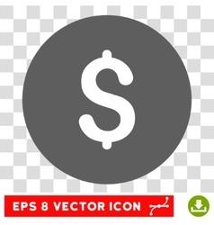 Dollar Round Eps Icon vector image