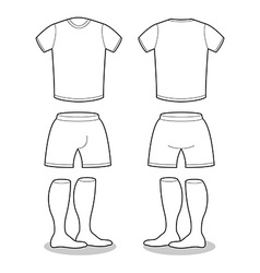 Sample for sports clothing soccer t-shirt shorts vector