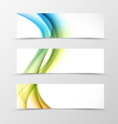 Set of header banner swirl design vector