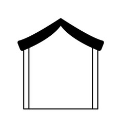 Manger stable isolated icon vector