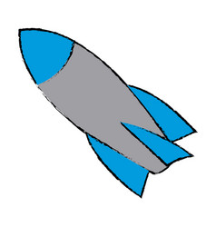 Rocket start up launch innovation vector