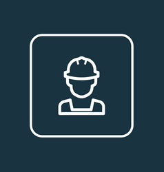Engineer outline symbol premium quality isolated vector