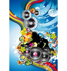 Discotheque colorful background vector