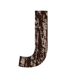 bark letter J vector image