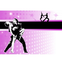 Latino dance poster vector