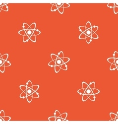 Orange atom pattern vector