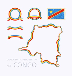 Colors of democratic republic of the congo vector