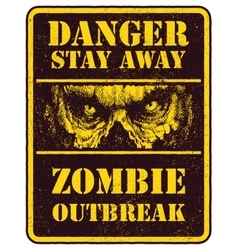 Poster zombie outbreak vector