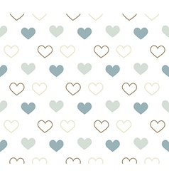 Romantic pattern with hearts Background vector image